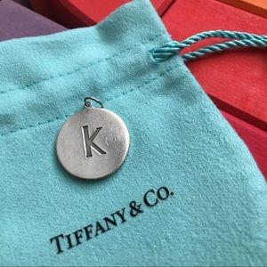 Tiffany 'K' charm in sterling silver.